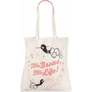 Benefit Canvas Tote Bag Full Brows Full Life